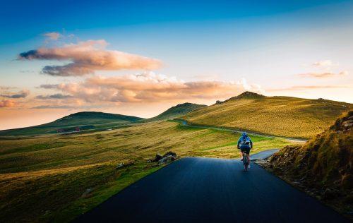 Gita in bici con zaino